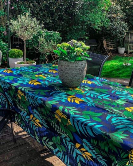 feuillage bleu 2 scaled e1603269158598 Nappe exterieur et interieur : Thème Végétal | 2 Coloris