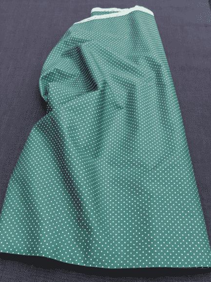 tissu coton à pois