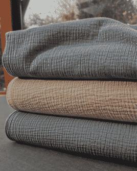 Tissu Triple Gaze de Coton Oeko Tex   2 Coloris