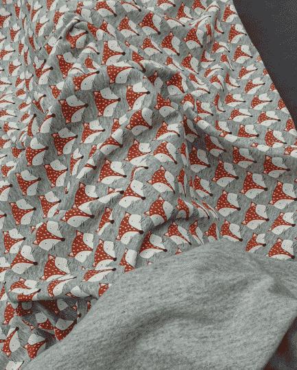 tissu sweat molleton renard