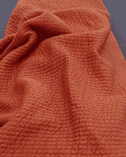 tissu jersey bubble corail