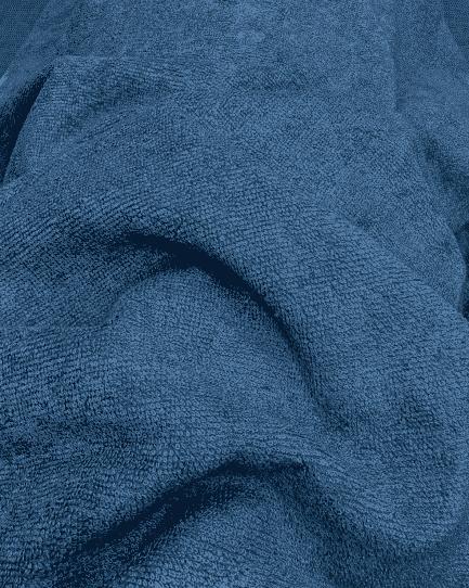 tissu mcro éponge bambou doudou oeko-tex bleu denim