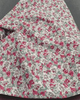 Tissu Coton Motif Liberty Violet
