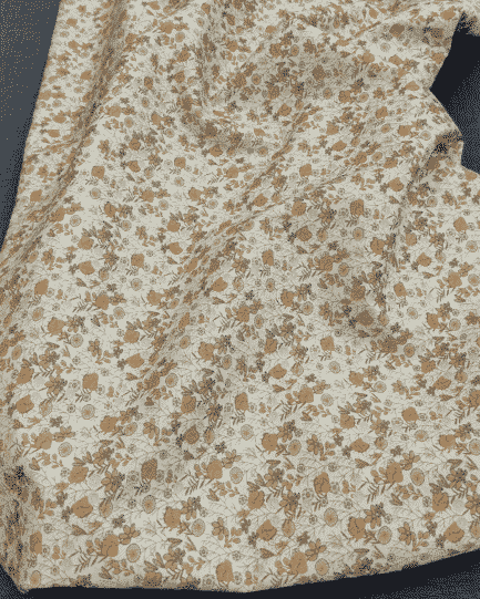 tissu liberty marron et beige (style)