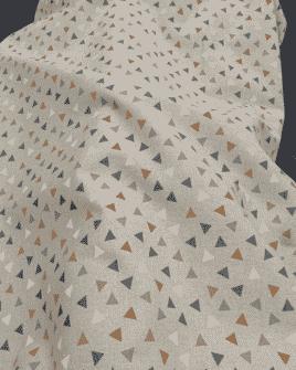 Tissu Polycoton Triangle Aspect Lin | 2 Coloris