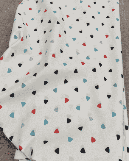 tissu coton triangle bleu blanc rouge
