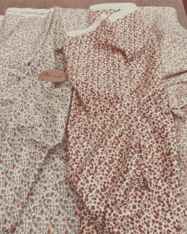 Tissu Coton Bio Fleuri GOTS